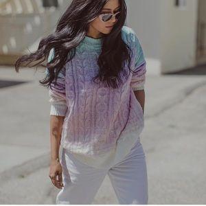 Rainbow knit